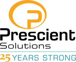 Prescient Solutions 25 Years Strong Logo