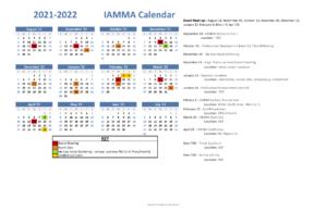 IAMMA 2021-2022 Calendar